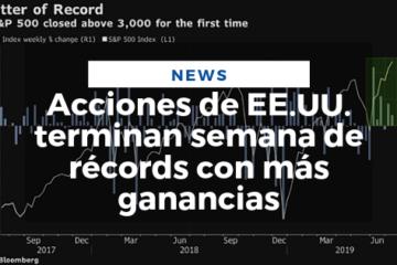 Acciones de EE.UU. terminan semana de récords con más ganancias