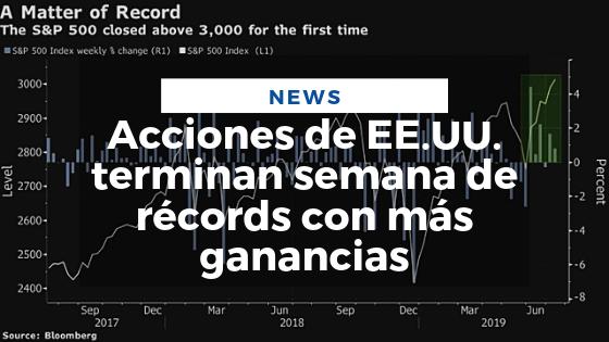 Mariano Aveledo Noticia Julio - Acciones de EE.UU. terminan semana de récords con más ganancias