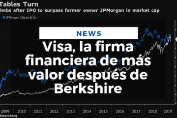 Visa, la firma financiera de más valor después de Berkshire