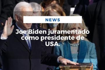 Joe Biden juramentado como presidente de USA.