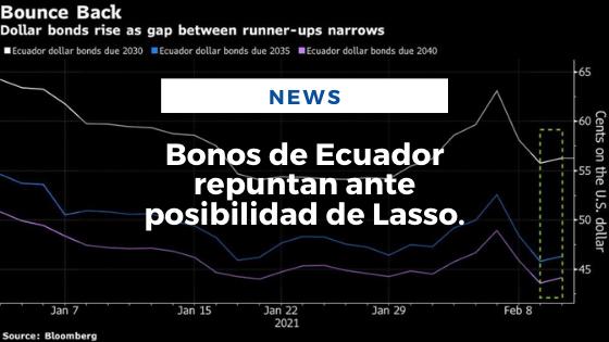 Mariano Aveledo Permuy Noticias Febrero 10 - Bonos de Ecuador repuntan ante posibilidad de Lasso