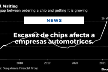 Escasez de chips afecta a empresas automotrices.