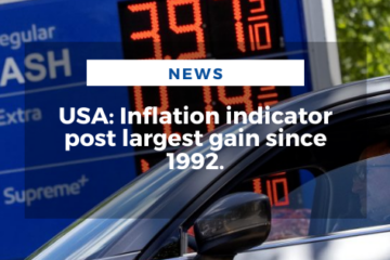 USA: Inflation indicator post largest gain since 1992.