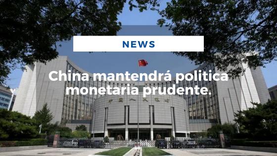 Mariano Aveledo Permuy Noticias Agosto 02 - China mantendrá politica monetaria prudente